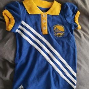 adidas Dresses - Adidas Golden State warriors baby girl dress